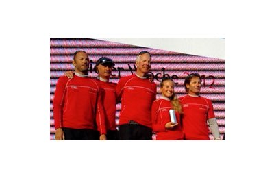 Audi Italia Sailing Team supported by Eberhard sul podio