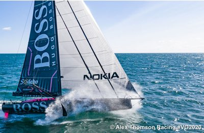 Alex Thomson con Hugo Boss