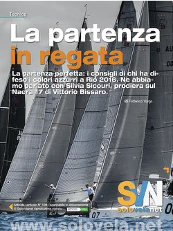 La partenza in regata