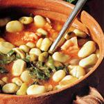 Zuppa di fave e lattuga