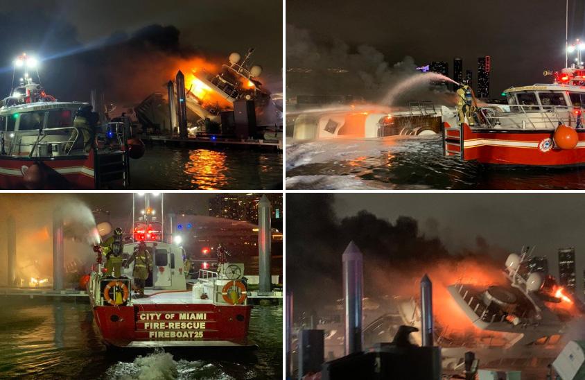 L'incendio del superyacht Andiamo