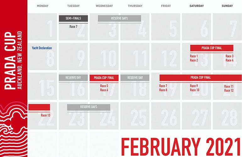 Prada Cup, la finale. Il calendario con le date in cui si correranno le regate.
