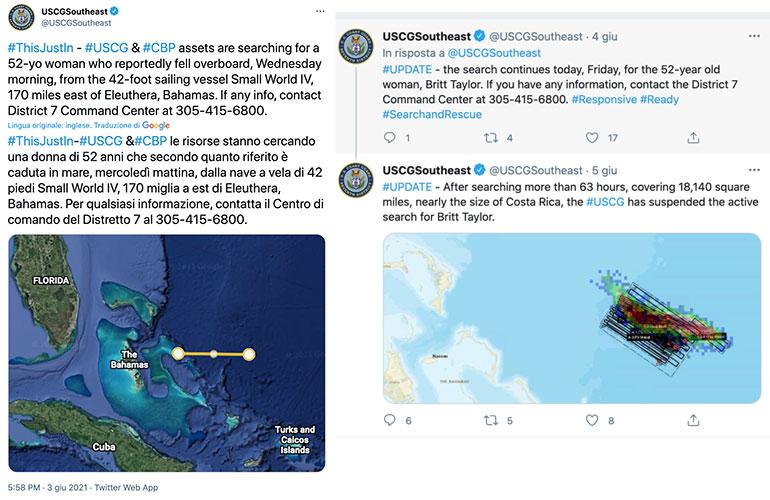 Tweet Guardia Costiera