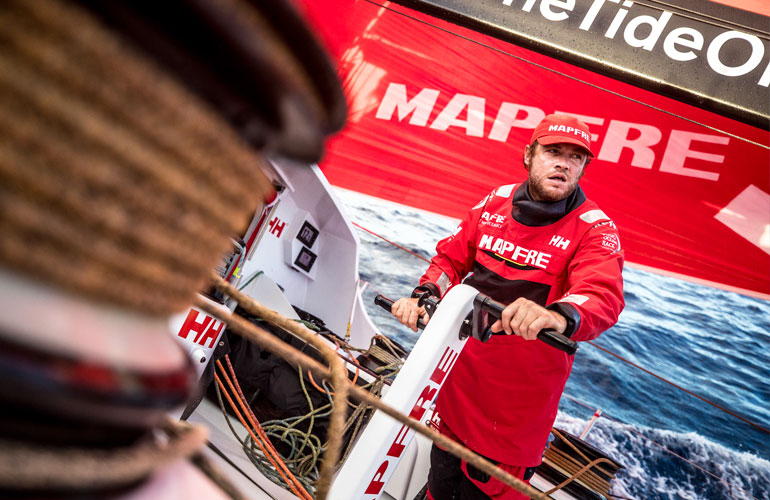 Leg 02, Lisbon to Cape Town, day 10, on board MAPFRE. 14 November